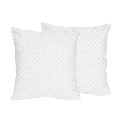 Minky Dot Throw Pillows Color: White