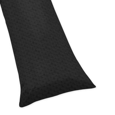 Minky Dot Body Pillowcase Color: Black