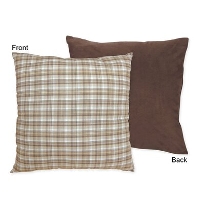 Teddy Bear Cotton Throw Pillow Color: Chocolate