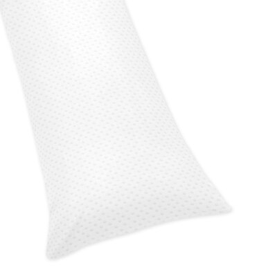 Minky Dot Body Pillowcase Color: White