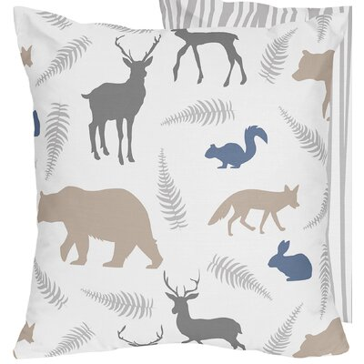 Woodland Animals Decorative Accent Throw Pillow