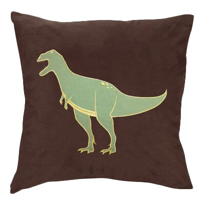 Dinosaur Land Microsuede Throw Pillow