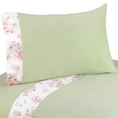 Riley's Roses 3 Piece 100% Cotton Twin Sheet Set