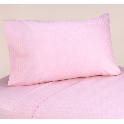Mod Dots 4 Piece 100% Cotton Pink Sheet Set Size: Queen
