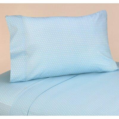 Mod Dots 4 Piece 100% Cotton Blue Sheet Set Size: Twin