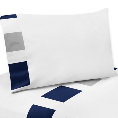 Stripe Sheet Set Color: Gray/Navy Blue