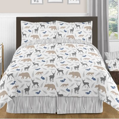 Woodland Animals 3 Piece Comforter Set