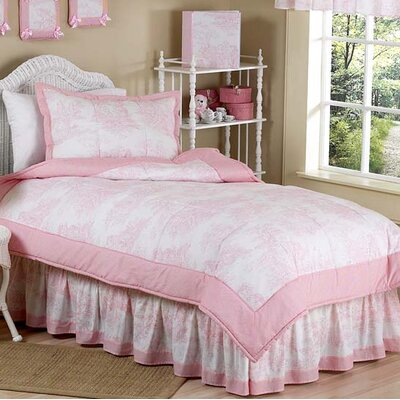 French Toile 3 Piece Comforter Set