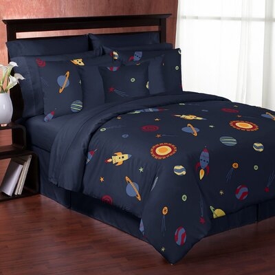 Space Galaxy Comforter Set Size: Twin