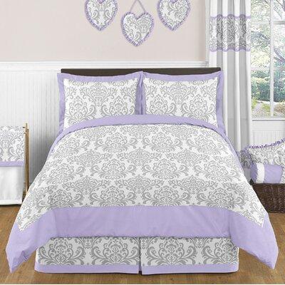 Elizabeth 3 Piece Full/Queen Comforter Set Elizabeth-GY-LAV-Q-3