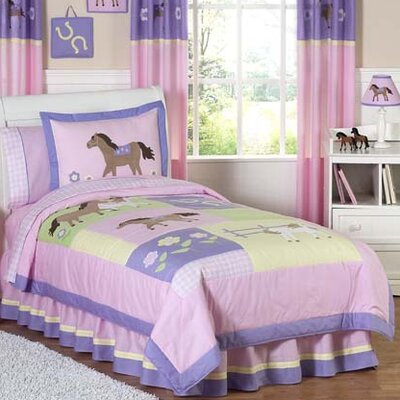 Pony 3 Piece Full/Queen Comforter Set