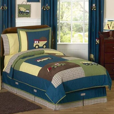 Construction Zone 4 Piece Twin Comforter Set