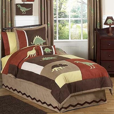 Dinosaur Land 3 Piece Full/Queen Comforter Set