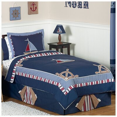Nautical Nights 4 Piece Twin Comforter Set