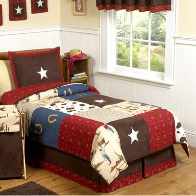 Wild West Cowboy 3 Piece Comforter Set