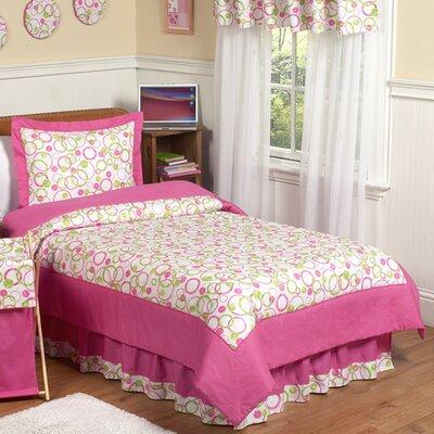 Circles Pink 3 Piece Comforter Set
