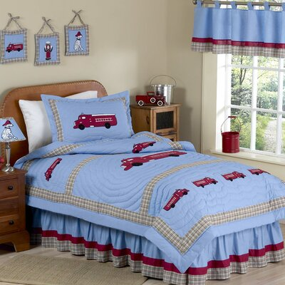 Frankies Firetruck 4 Piece Twin Comforter Set