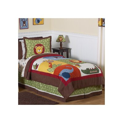 Jungle Time 4 Piece Twin Comforter Set