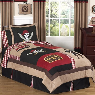 Pirate Treasure Cove 4 Piece Twin Comforter Set