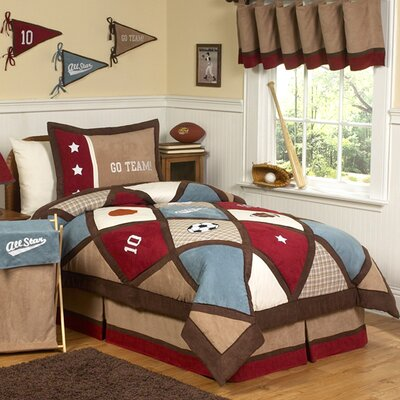 All Star Sports 4 Piece Twin Comforter Set