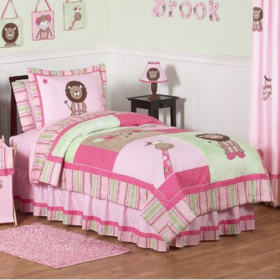 Jungle Friends 3 Piece Full/Queen Quilt Set