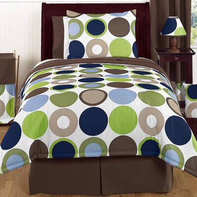 Designer Dot 4 Piece Twin Comforter Set
