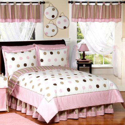 Mod Dots Pink Comforter Set Size: Full / Queen