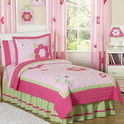 Flower 3 Piece Full/Queen Comforter Set