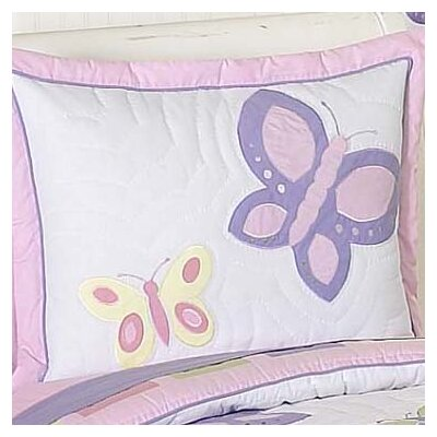 Butterfly Pillow Sham Color: Pink and Purple