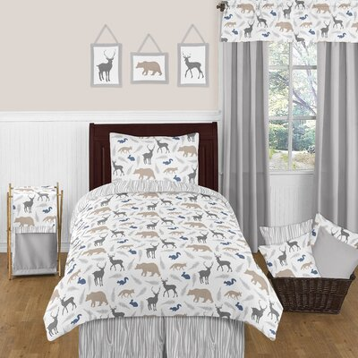 Woodland Animals 4 Piece Twin Comforter Set