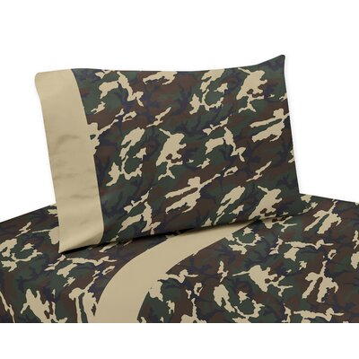 Camo 4 Piece 100% Cotton Sheet Set Size: Twin