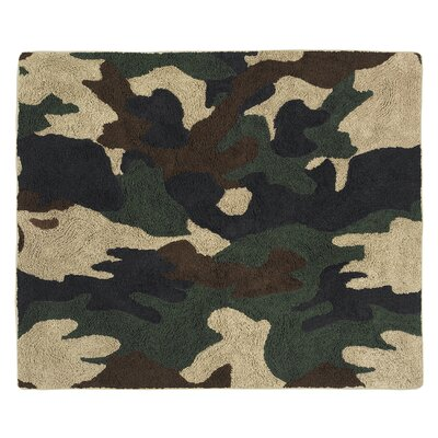 Camo Green / Brown Area Rug Rug Size: Rectangle 26 x 3