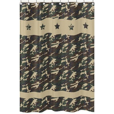 Camo Shower Curtain Color: Green