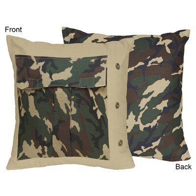 Camo Cotton Throw Pillow