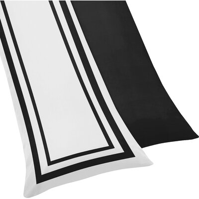 Hotel Body Pillowcase Color: White & Black