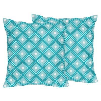 Mod Elephant Cotton Throw Pillow