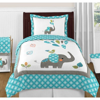 Mod Elephant Comforter Set Size: Full/Queen