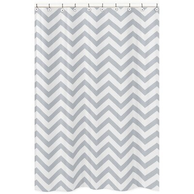 Chevron Microfiber Shower Curtain Color: Gray