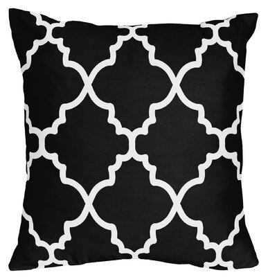 Trellis Throw Pillow Color: Black/White
