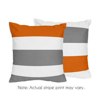 Throw Pillow Color: Gray/Orange