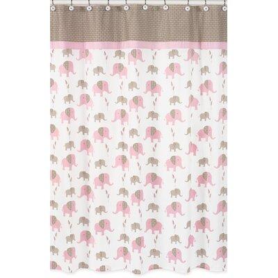 Elephant Cotton Shower Curtain