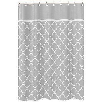 Trellis Brushed Microfiber Shower Curtain Color: Grey