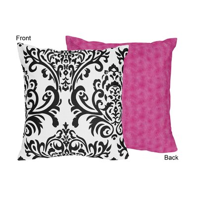 Isabella Throw Pillow Color: Hot Pink
