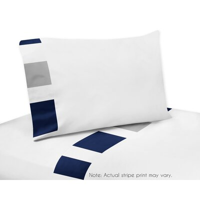 Stripe 200 Thread Count Sheet Set Size: Twin, Color: Gray/Navy Blue