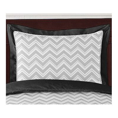 Zig Zag Pillow Sham Color: Grey and Black