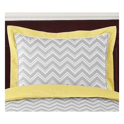 Zig Zag Pillow Sham Color: Grey and Yellow