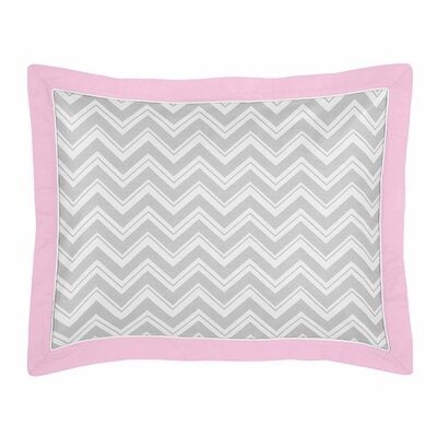 Zig Zag Pillow Sham Color: Grey and Pink