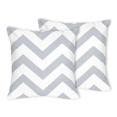 Chevron Throw Pillow Color: Gray
