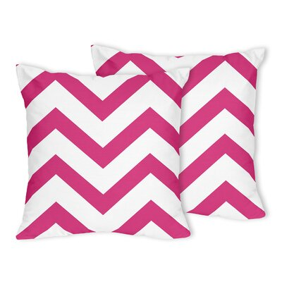 Chevron Throw Pillow Color: Hot Pink