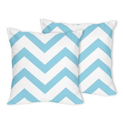 Chevron Throw Pillow Color: Turquoise